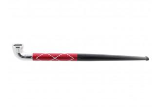 Pipe japonaise rouge quadrillée