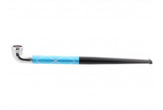 Pipe japonaise bleue quadrillée